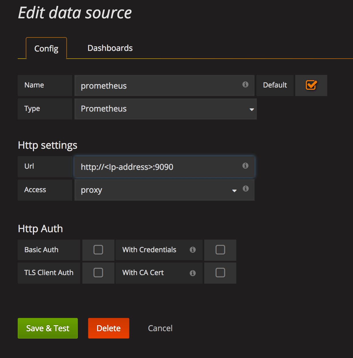 Grafana data store File